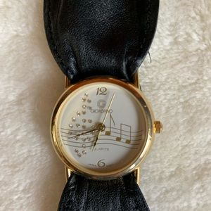 Vintage Giordano Leather Strap Watch
